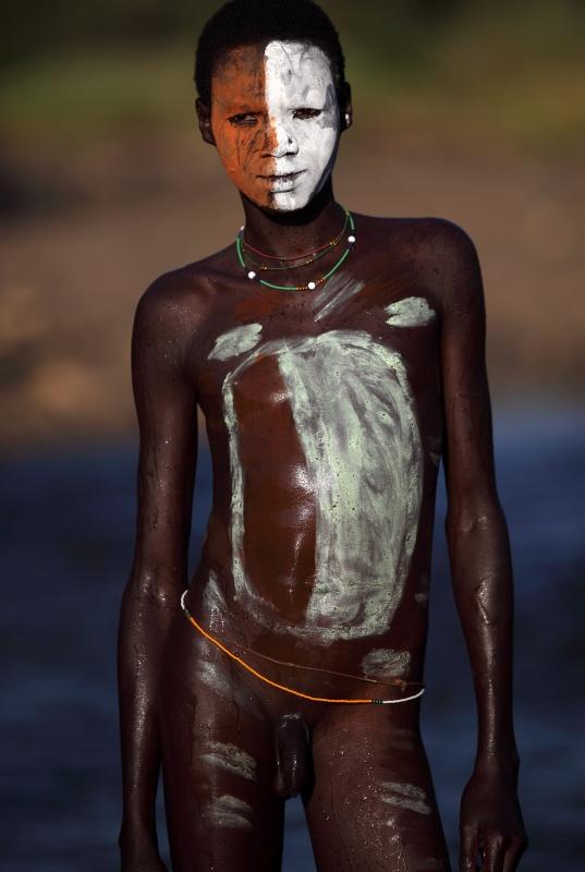 Naked Ethiopian boy