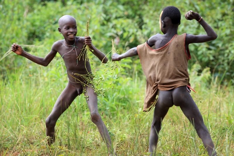 nude tribal boys in action