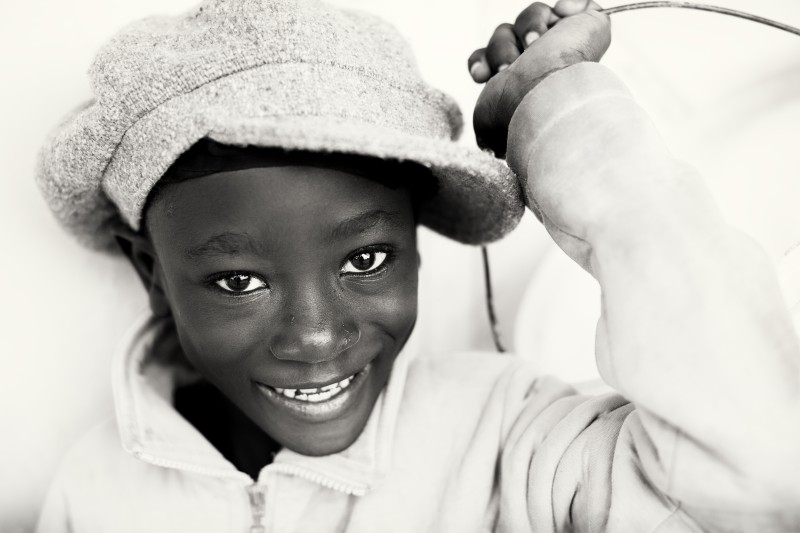 Ghana, young boy in Keta