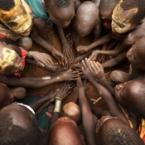 Ethiopian Tribes, Suri, childr...